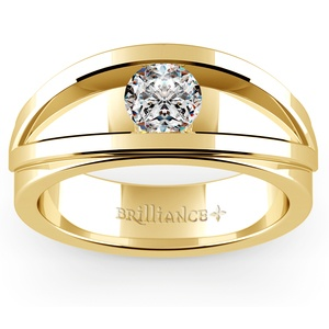 Hyperion Solitaire Mangagement™ Ring in Yellow Gold (3/4 ctw)
