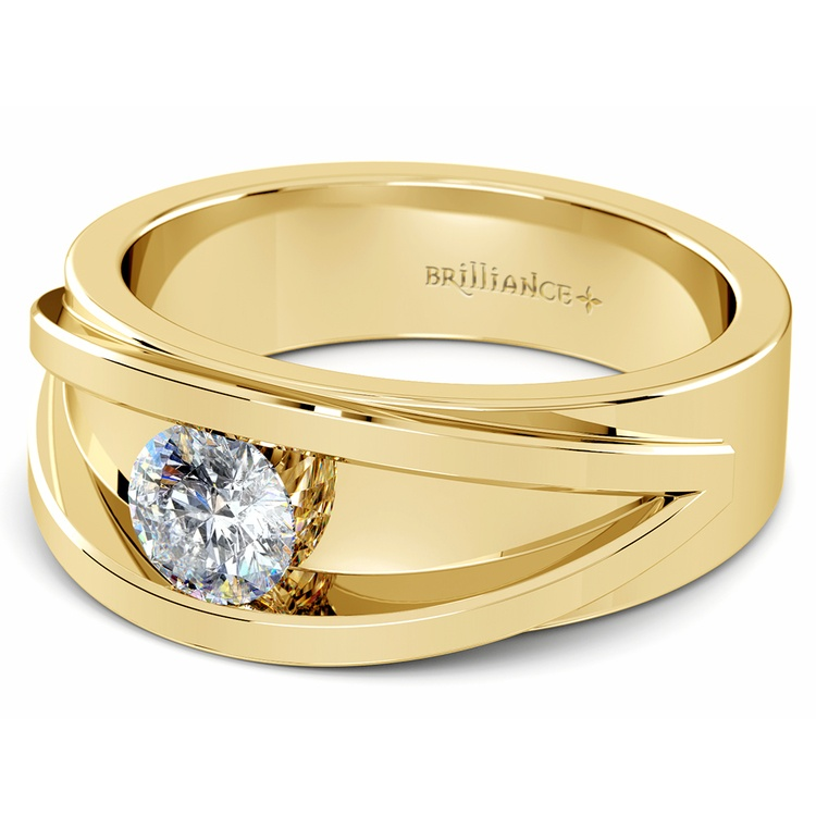 Hyperion Solitaire Mangagement™ Ring in Yellow Gold (3/4 ctw) | 01