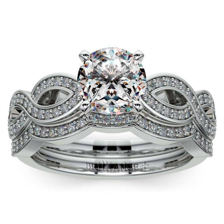 Infinity Engagement & Wedding Ring Bridal Set In Platinum | 01