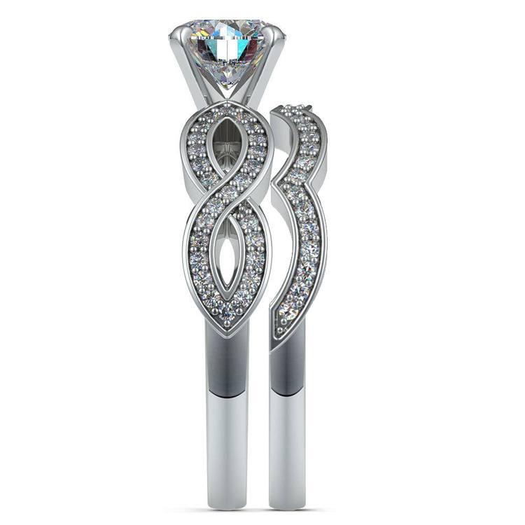 Infinity Engagement & Wedding Ring Bridal Set In Platinum | 03