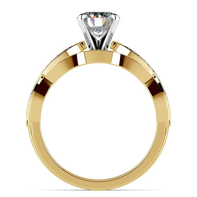 Infinity Engagement & Wedding Ring Bridal Set In Yellow Gold | 02