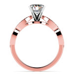 Infinity Twist Cathedral Diamond Engagement Ring in Rose Gold | Thumbnail 02