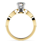 Infinity Twist Cathedral Diamond Engagement Ring in Yellow Gold | Thumbnail 02