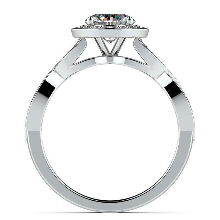 Infinity Twist Halo Diamond Engagement Ring in Platinum | 02