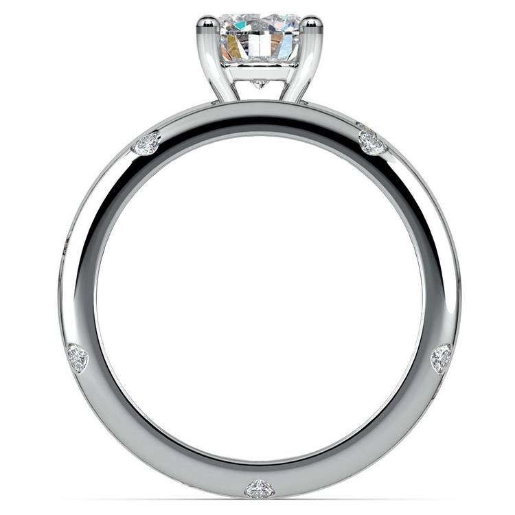 Inset Diamond Engagement Ring & Wedding Band Set In Platinum | 02