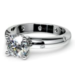 Inset Diamond Engagement Ring in Palladium  | Thumbnail 04