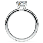 Inset Diamond Engagement Ring in White Gold | Thumbnail 02