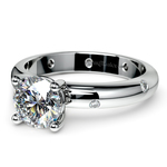 Inset Diamond Engagement Ring in White Gold | Thumbnail 04