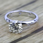 Inset Diamond Engagement Ring in White Gold | Thumbnail 05