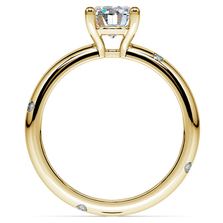 Inset Diamond Engagement Ring in Yellow Gold | 02