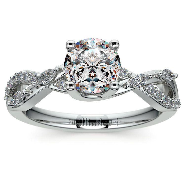 Ivy Diamond Engagement Ring in Platinum | 01