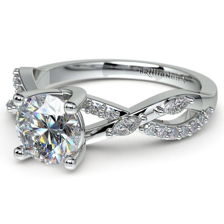 Ivy Diamond Engagement Ring in Platinum | 04