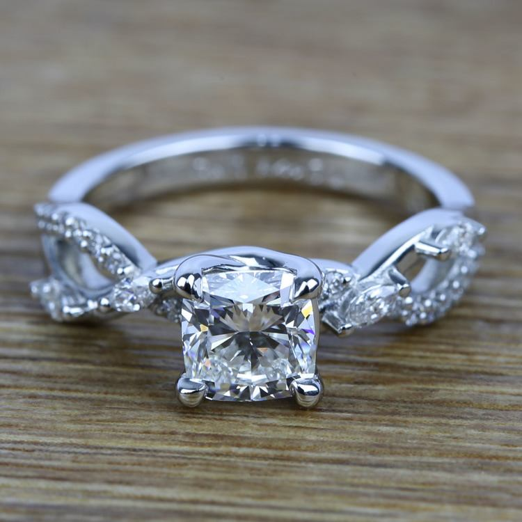 Ivy Diamond Engagement Ring in Platinum | 05