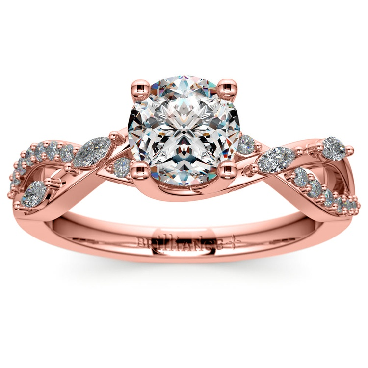 Ivy Diamond Engagement Ring in Rose Gold | 01