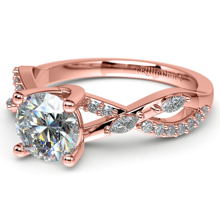 Ivy Diamond Engagement Ring in Rose Gold | 04