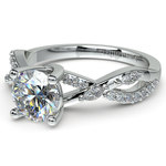 Ivy Diamond Engagement Ring in White Gold | Thumbnail 04