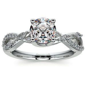 Ivy Diamond Engagement Ring in White Gold