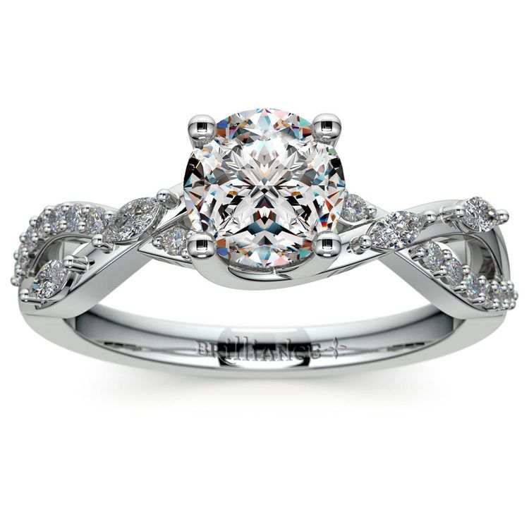 Ivy Diamond Engagement Ring in White Gold | 01