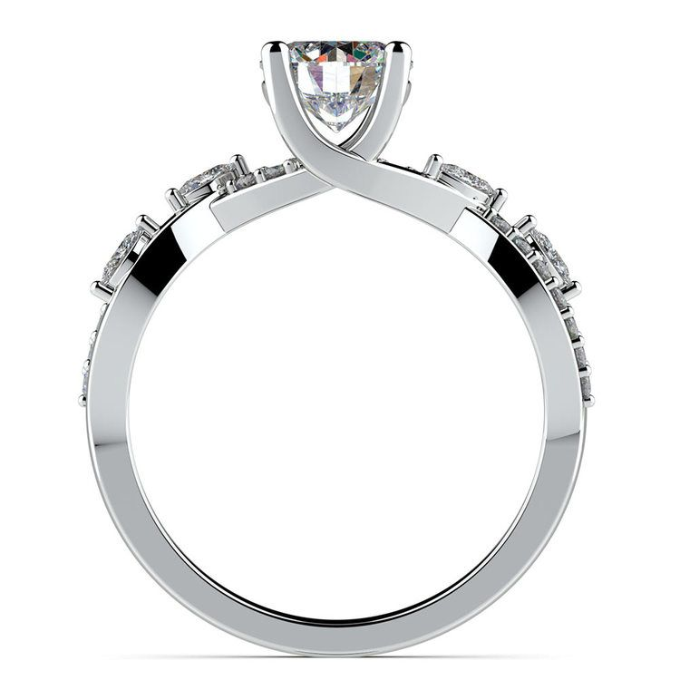 Ivy Diamond Engagement Ring in White Gold | 02