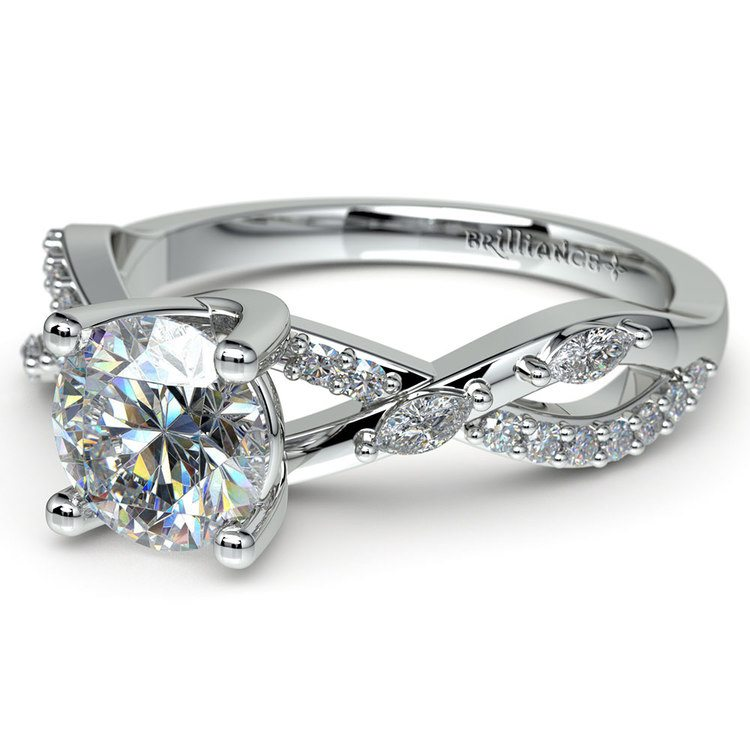 Ivy Diamond Engagement Ring in White Gold | 04