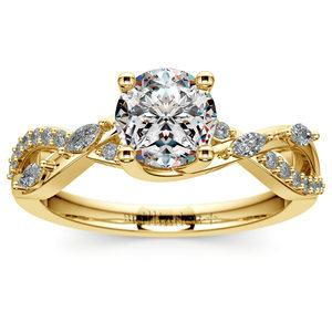 Ivy Diamond Engagement Ring in Yellow Gold