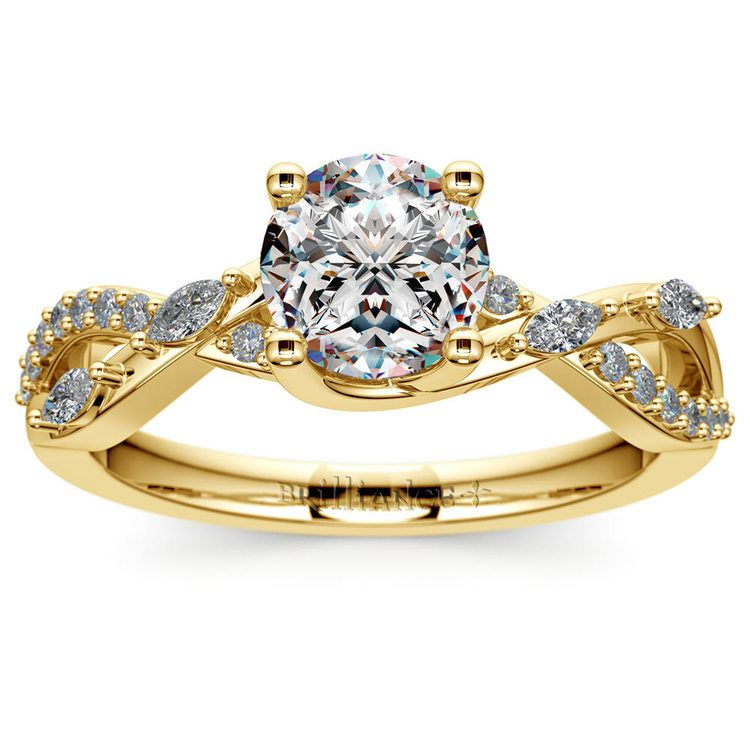 Ivy Diamond Engagement Ring in Yellow Gold | 01