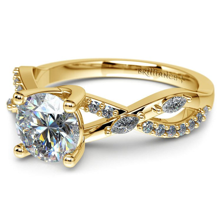 Ivy Diamond Engagement Ring in Yellow Gold | 04