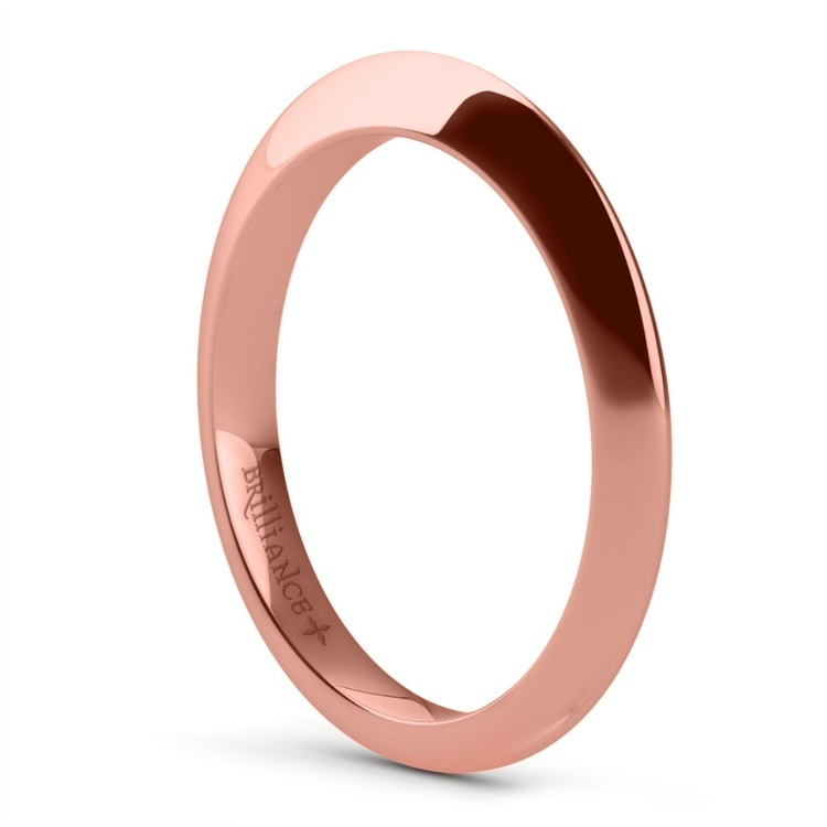 Knife Edge Engagement Ring And Wedding Band In Rose Gold   04