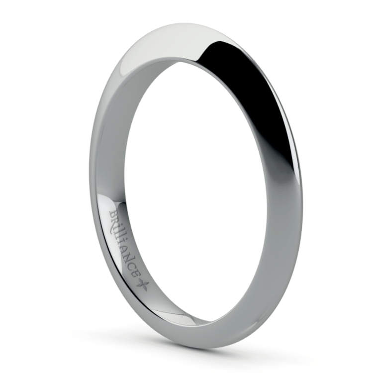 Knife Edge Engagement Ring And Wedding Band In White Gold | 04