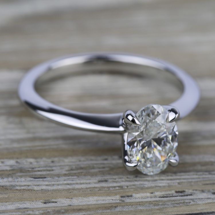 Knife Edge Solitaire Engagement Ring in Palladium | 05