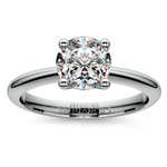 Knife Edge Solitaire Engagement Ring in Platinum | Thumbnail 01