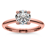 Knife Edge Solitaire Engagement Ring in Rose Gold | Thumbnail 01