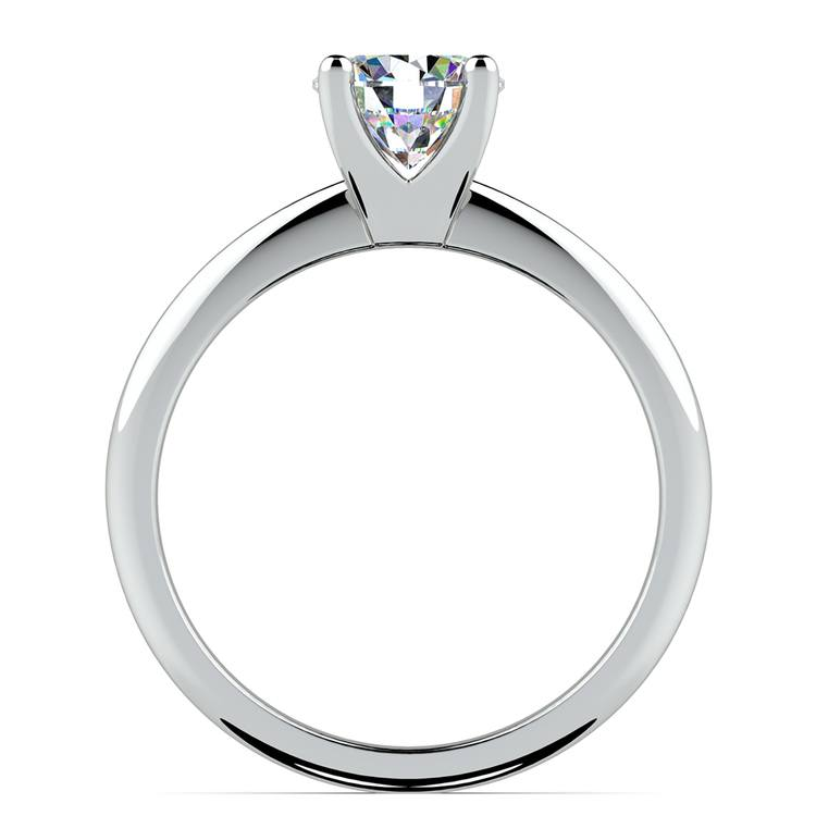 Knife Edge Solitaire Engagement Ring in White Gold | 02