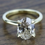 Knife Edge Solitaire Engagement Ring in Yellow Gold | Thumbnail 05