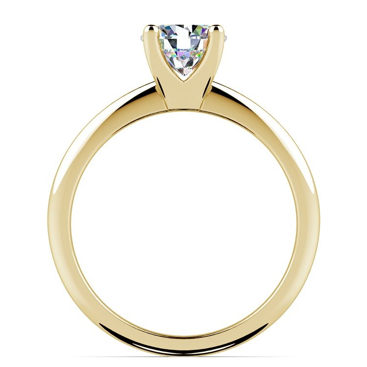 Knife Edge Solitaire Engagement Ring in Yellow Gold | 02