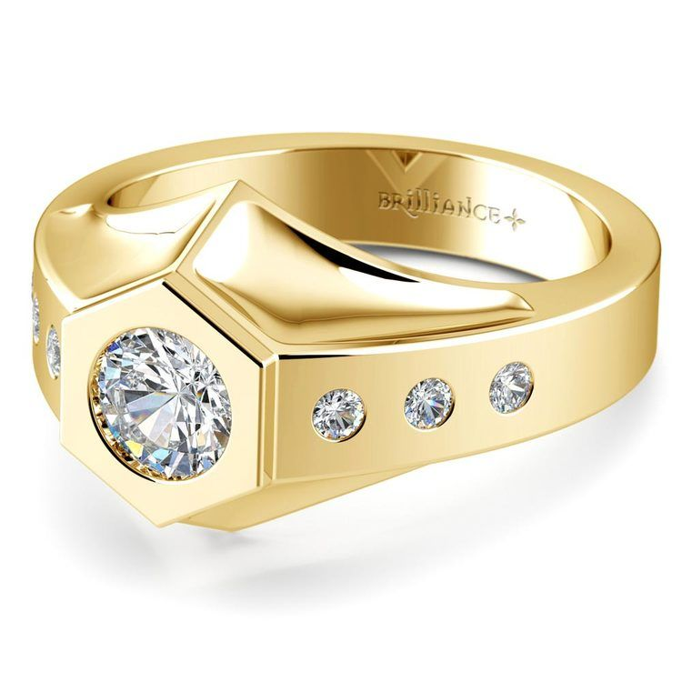 Magnus II Solitaire Mangagement™ Ring in Yellow Gold (3/4 ctw) | 01