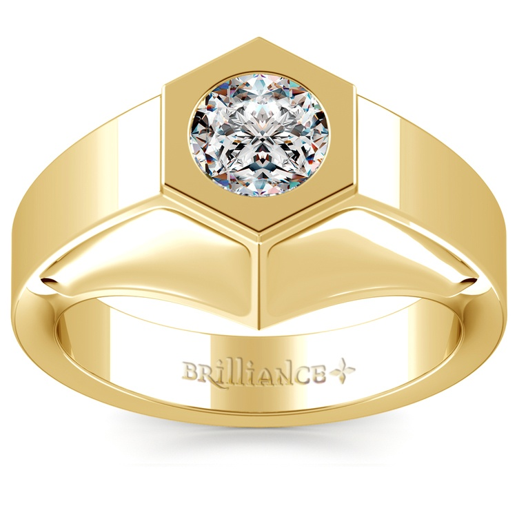 Magnus Solitaire Mangagement™ Ring in Yellow Gold (1 ctw) | 01