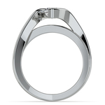 Marquise Bezel Diamond Bridge Engagement Ring In Platinum | Thumbnail 02