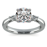 Marquise Diamond Engagement Ring in Platinum (1/4 ctw) | Thumbnail 01