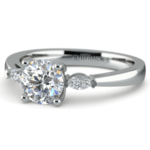 Marquise Diamond Engagement Ring in Platinum (1/4 ctw) | Thumbnail 04