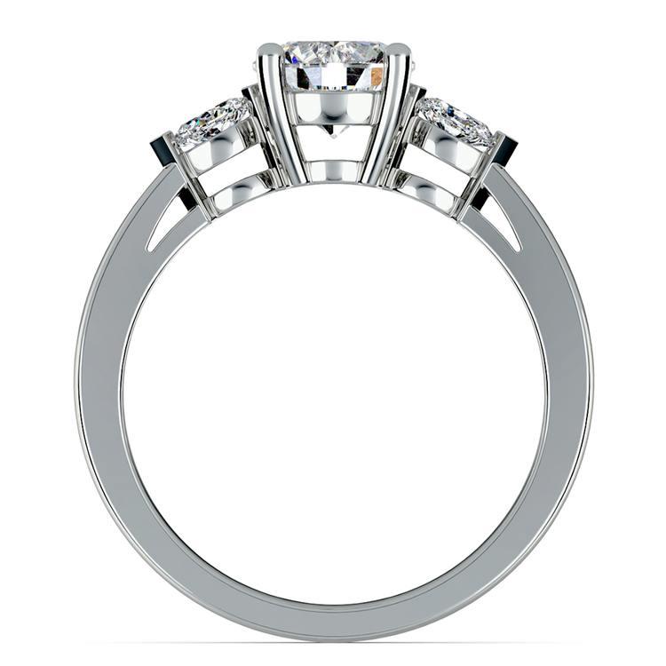 Marquise Diamond Engagement Ring in Platinum (1/4 ctw)   02