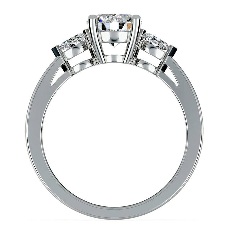 Marquise Diamond Engagement Ring in White Gold (1/4 ctw) | 02