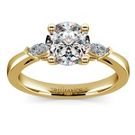 Marquise Diamond Engagement Ring in Yellow Gold (1/4 ctw) | Thumbnail 01