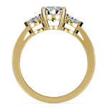 Marquise Diamond Engagement Ring in Yellow Gold (1/4 ctw) | Thumbnail 02