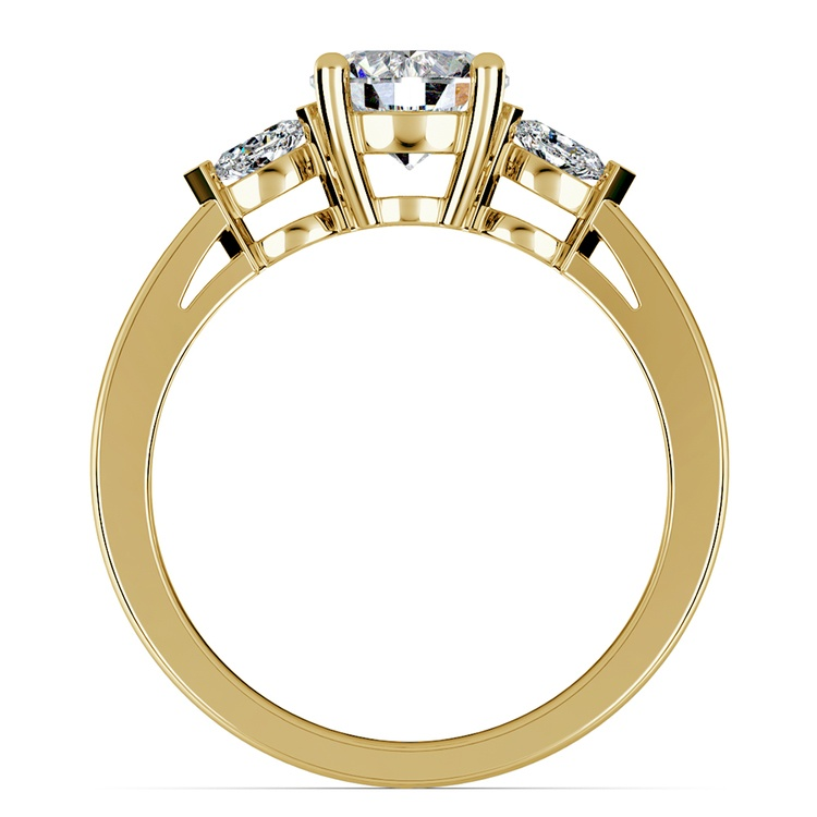 Marquise Diamond Engagement Ring in Yellow Gold (1/4 ctw) | 02