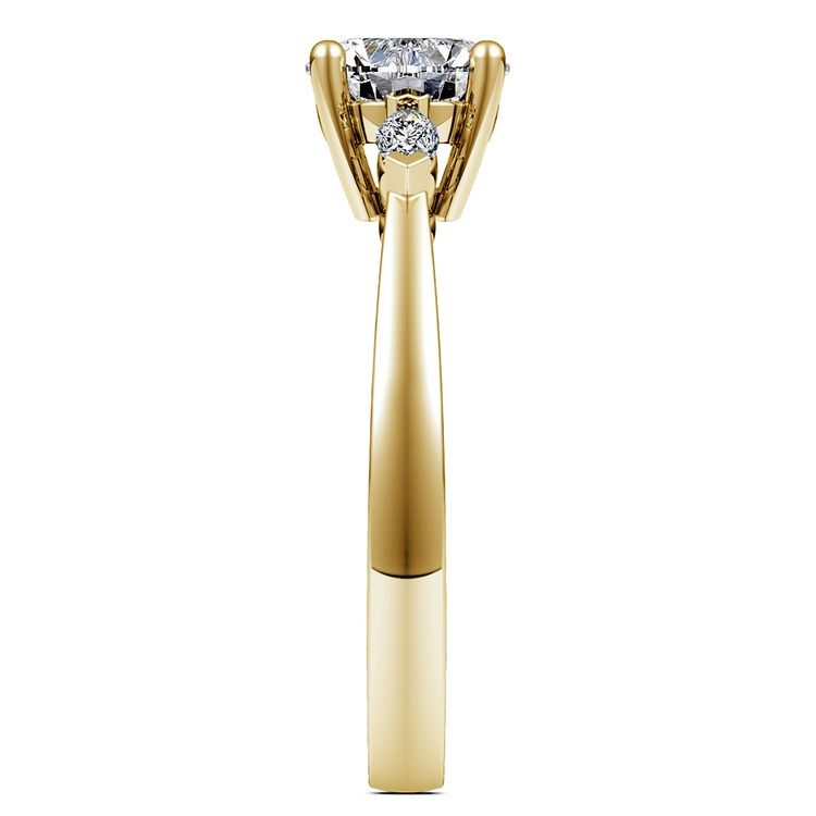 Marquise Diamond Engagement Ring in Yellow Gold (1/4 ctw) | 03