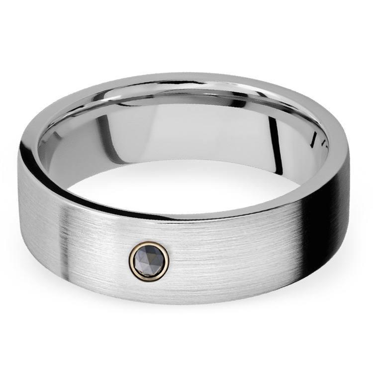 Men's Cobalt Diamond Engagement Ring With Rose Cut Diamond | 01