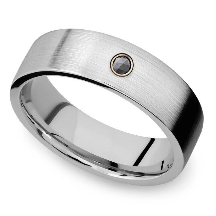 Men's Cobalt Diamond Engagement Ring With Rose Cut Diamond | 03