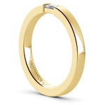 Men's Engagement Ring with Baguette Diamond in Yellow Gold | Thumbnail 04