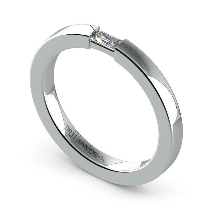 Men's Engagement Ring with Baguette Diamond | 02